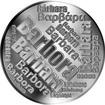 Česká jména - Barbora - velká stříbrná medaile 1 Oz