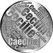 Česká jména - Cecílie - velká stříbrná medaile 1 Oz