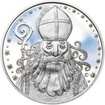 Čert a Mikuláš 25 mm stříbro Proof