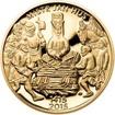 Sada zlatého dukátu a stříbrného odražku Jan Hus - I. - proof