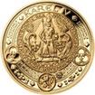 Sada zlatého dukátu a stříbrného odražku NM II. Královská pečeť - proo