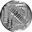 Česká jména - Emanuel - velká stříbrná medaile 1 Oz