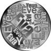 Česká jména - Eva - velká stříbrná medaile 1 Oz