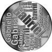 Česká jména - Gabriel - velká stříbrná medaile 1 Oz