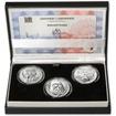 BOHUMIL HRABAL – návrhy mince 200,-Kč - sada tří stříbrných medailí 34