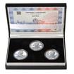 JOSEF BICAN – návrhy mince 200,-Kč - sada tří Ag medailí 34mm b.k.