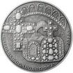 Karel IV. římský císař - 50 mm Ag patina