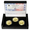 MOST V ŽAMPACHU – návrhy mince 5000,-Kč sada tří Au medailí 1/2 Oz b.k