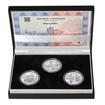 MOST VE STŘÍBŘE – návrhy mince 5000,-Kč sada tří Ag medailí 1 Oz b.k.