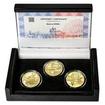 MOST VE STŘÍBŘE – návrhy mince 5000,-Kč sada tří Au medailí 1/2 Oz b.k