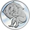 Stříbrný medailon k narození dítěte 2013