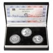 OTTO WICHTERLE – návrhy mince 200,-Kč - sada tří Ag medailí 1 Oz b.k.