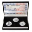 RABÍ JEHUDA LÖW – návrhy mince 200,-Kč - sada II. tří Ag medailí 34mm
