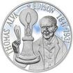 Thomas Alva Edison - 135. výročí sestrojení žárovky stříbro proof