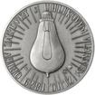 Thomas Alva Edison - 135. výročí sestrojení žárovky stříbro patina