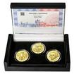 VÁCLAV THÁM – návrhy mince 500,-Kč - sada tří zlatých medailí Proof