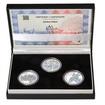 ZALOŽENÍ SOKOLA – návrhy mince 200,-Kč - sada tří Ag medailí 1 Oz b.k.
