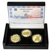 ZALOŽENÍ SOKOLA – návrhy mince 200,-Kč - sada tří zlatých medailí Proo