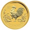 Zlatá mince Rok kohouta, Lunární serie II. 1/10 unce