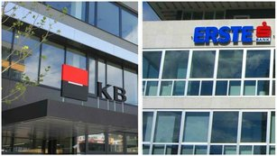 Jak� ��sla za posledn� lo�sk� kvart�l p�edstav� Komer�n� banka a Erste Group Bank?