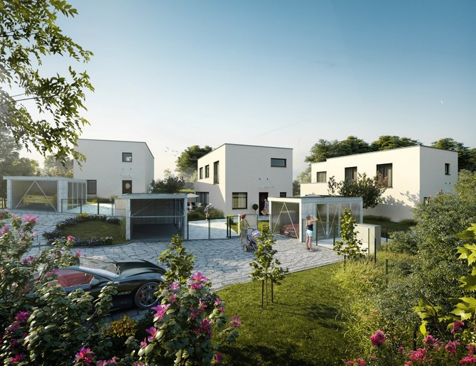 Komplex 4 luxusních rodinných domů