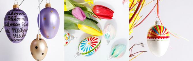 Skleněné kraslice jsou nový trend Velikonoc