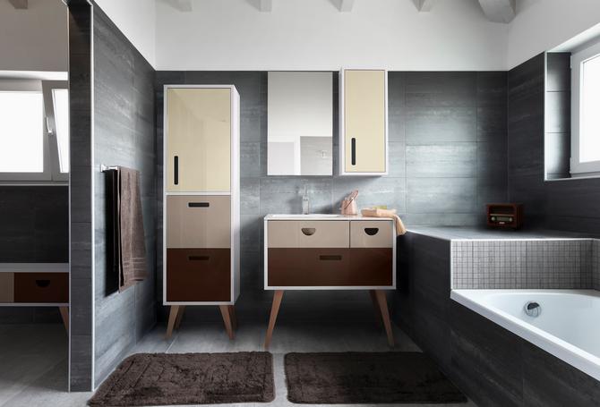 Koupelna v odstínech hnědé