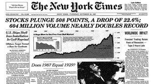 Předpověděl nedávný vrchol trhu a nyní varuje před opakováním roku 1987. Poklesy tu ale byly i během vlády býků