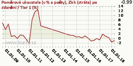 Zisk (ztráta) po zdanění / Tier 1 (%),Poměrové ukazatele (v % a počty)
