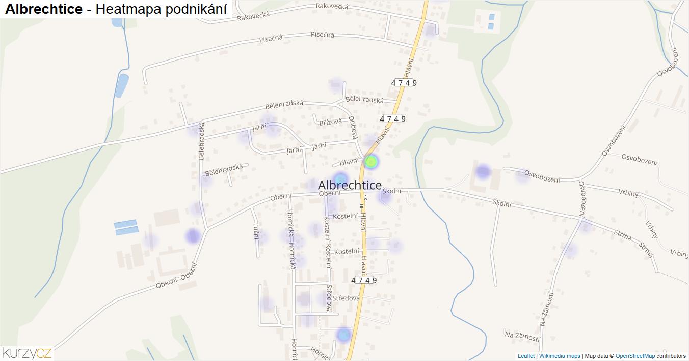 Albrechtice - mapa podnikání