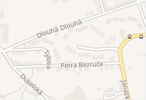 Petra Bezruče v obci Aš - mapa ulice