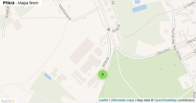 Mapa Příkrá - Firmy v ulici.