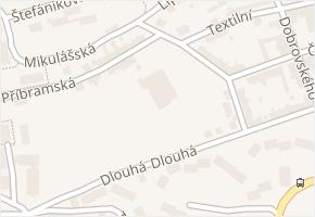 Saská v obci Aš - mapa ulice