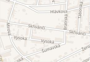Skřivánčí v obci Aš - mapa ulice