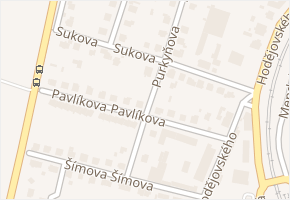 Sukova v obci Benešov - mapa ulice