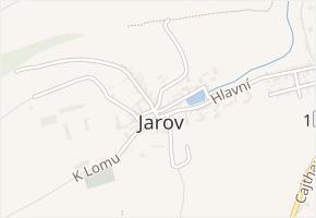 Beroun-Jarov v obci Beroun - mapa části obce