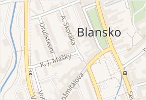 Blansko v obci Blansko - mapa části obce