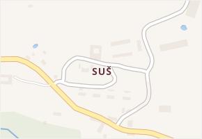 Suš v obci Bohdalovice - mapa části obce