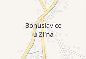 Bohuslavice u Zlína v obci Bohuslavice u Zlína - mapa části obce