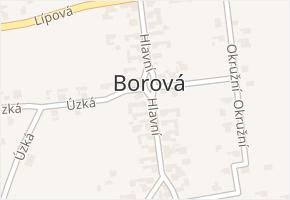 Borová v obci Bolatice - mapa části obce