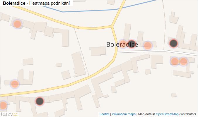 Mapa Boleradice - Firmy v obci.