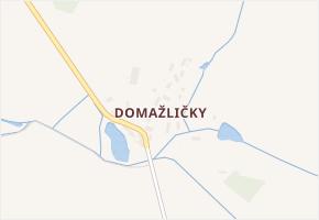 Domažličky v obci Bolešiny - mapa části obce