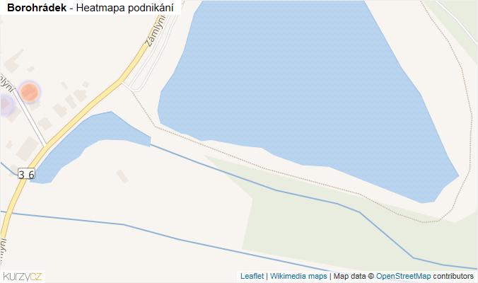 Mapa Borohrádek - Firmy v obci.