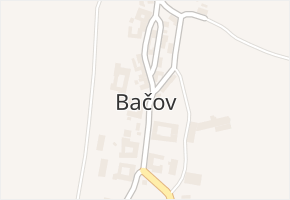 Bačov v obci Boskovice - mapa části obce