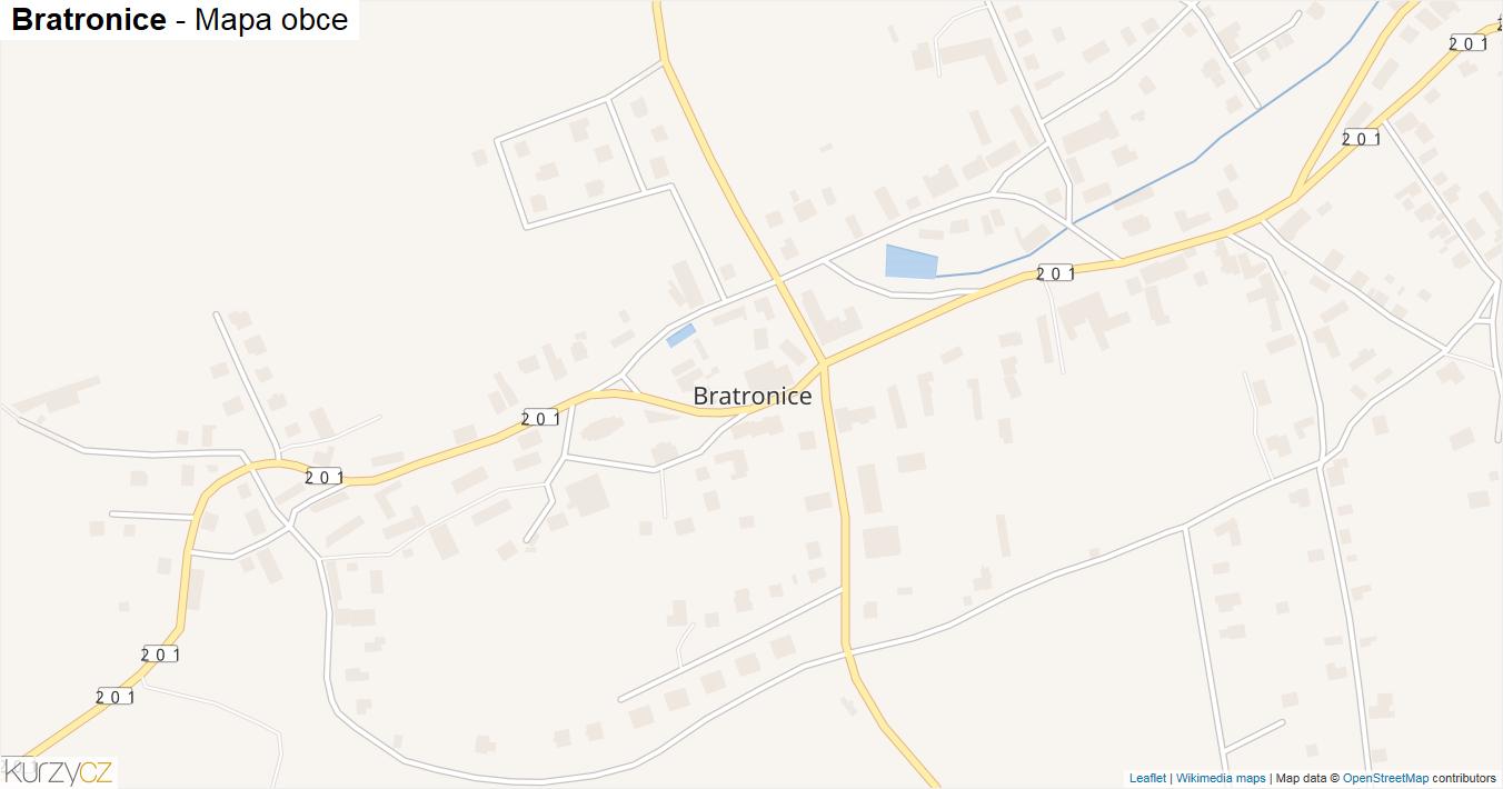 Bratronice - mapa obce