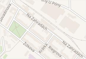 Na Zahradách v obci Břeclav - mapa ulice
