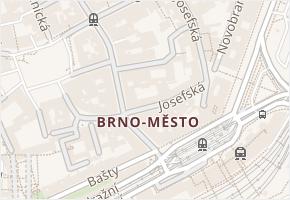 Brno-město v obci Brno - mapa části obce
