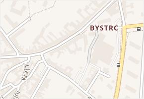 Bystrc v obci Brno - mapa části obce