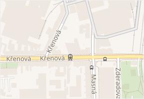 Křenová v obci Brno - mapa ulice