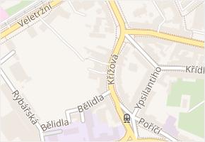 Křížová v obci Brno - mapa ulice